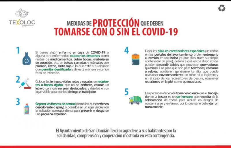 Medidas de protección que deben tomarse con o sin el Covid